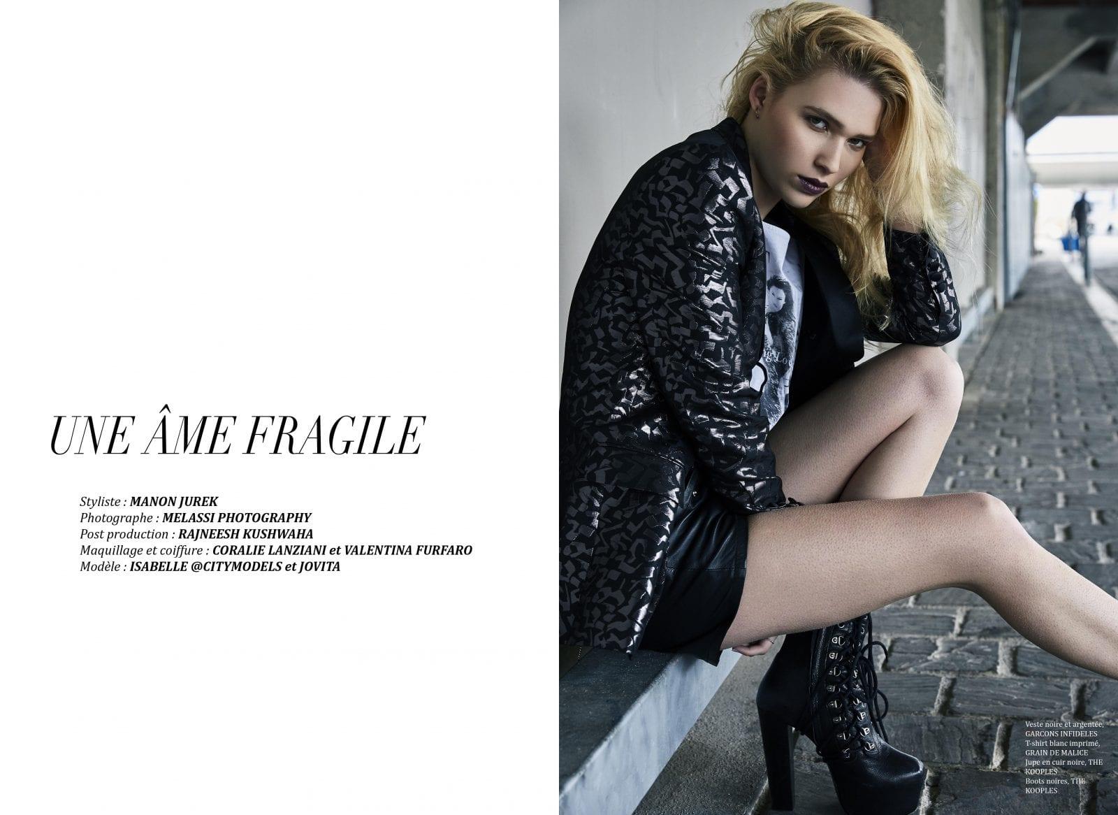 """Éditorial """"Une âme fragile"""" par Melassi photography"""