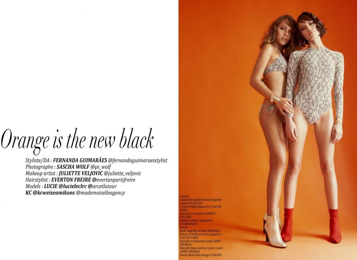 "Éditorial ""Orange is the new black"" par Fernanda Guimaraes"