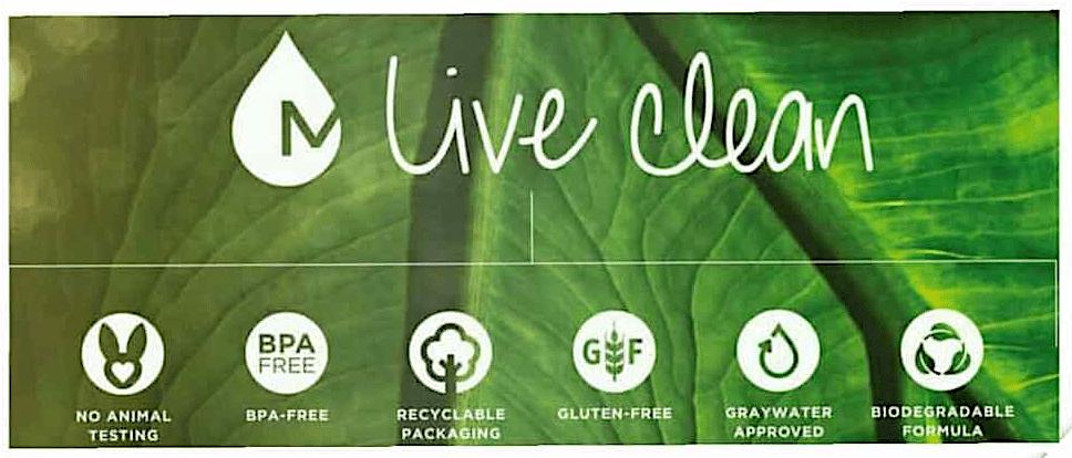 Modere, live clean - Valeurs