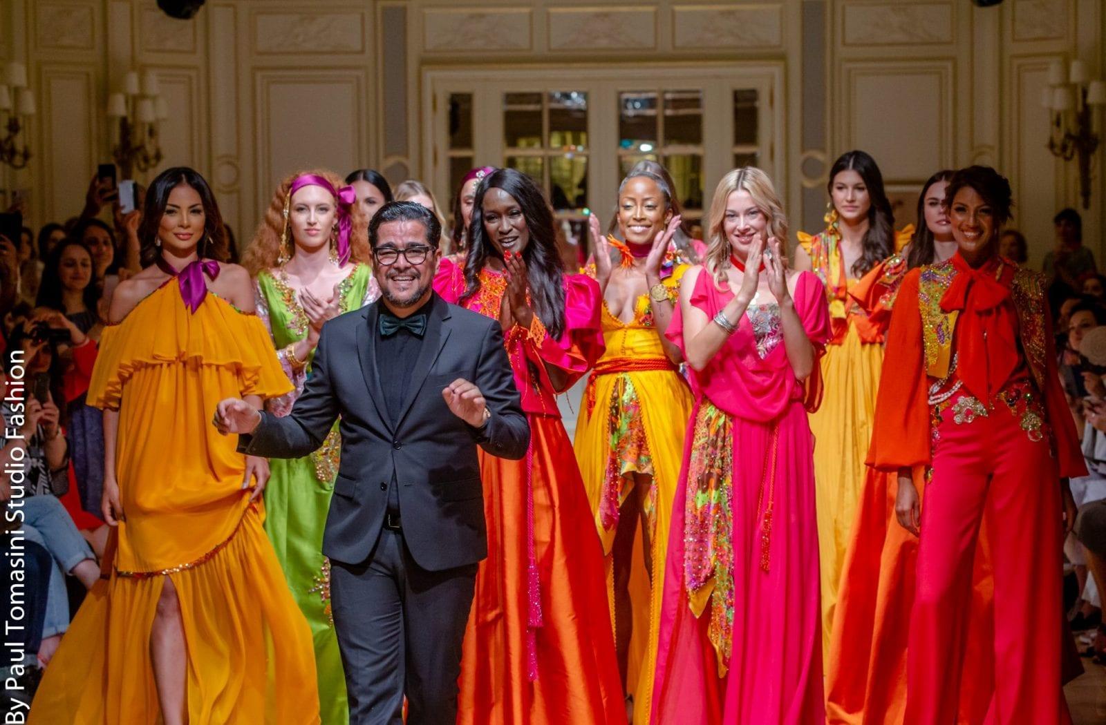 Fouad GUERFI et ses modèles à l'Oriental Fashion Show au Ritz