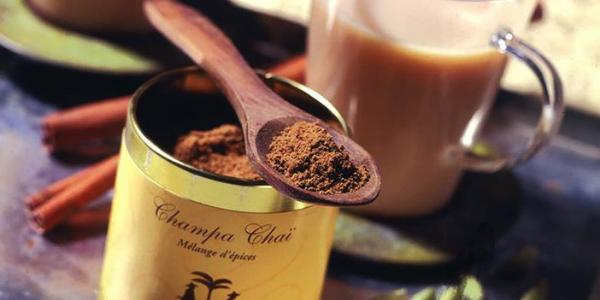 boite de champa chai saravane pour accompagner le thé