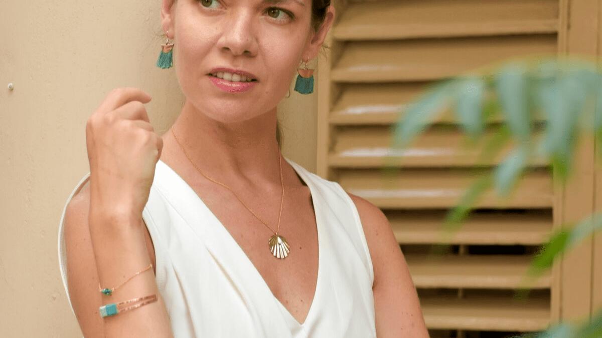 Pendants ANA, collier CHERESE et Bracelets SAM et JANELLE