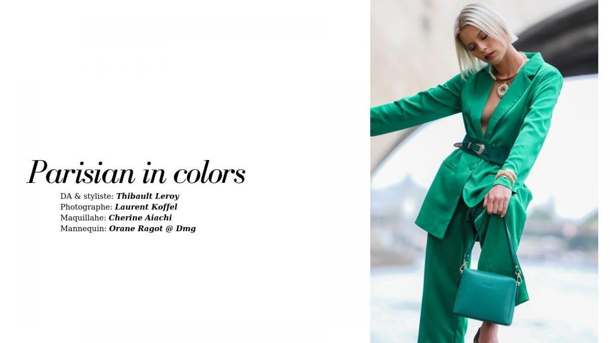 Parisian in colors, éditorial par Thibault Leroy