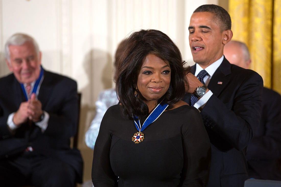 oprah winfrey et la médaille de la liberté