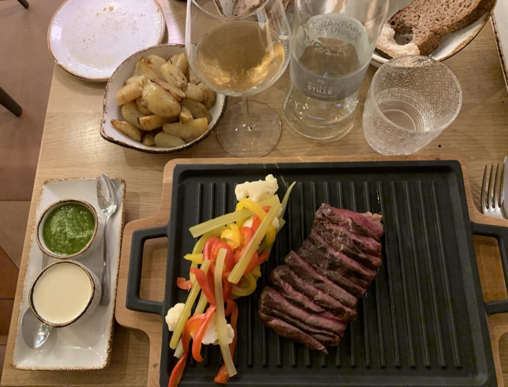 Secondo piatto chez Osteria del vino