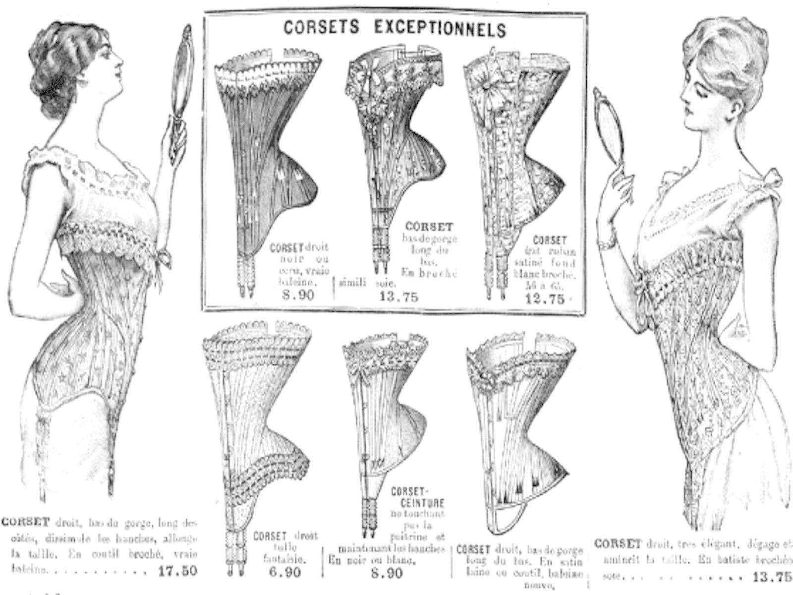 Le corset, lingerie thérapeutique ou instrument de torture, a longtemps été porté par les femmes (et les hommes) afin d'ajuster la forme de leur taille, avant d'être un objet servant à sexualiser le corps de la femme.