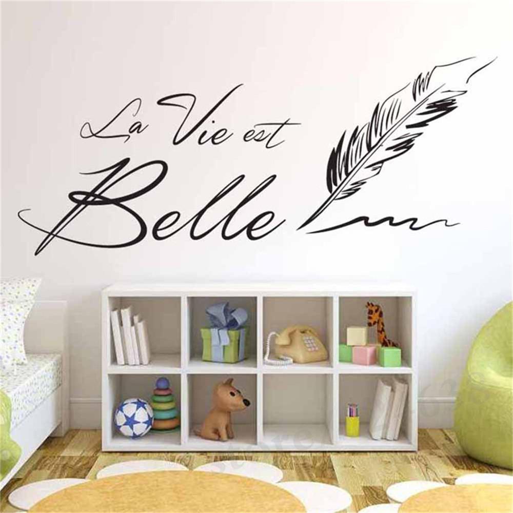 sticker mural écriture
