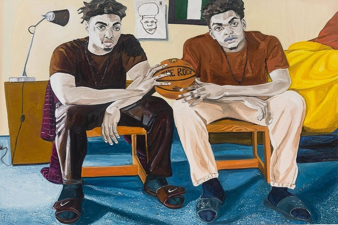 Autre tableau de l'artiste-peintre Jordan Casteel.