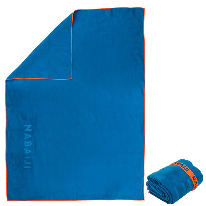 Exemple de serviette en microfibre qui est un tissu mince, résistant et léger