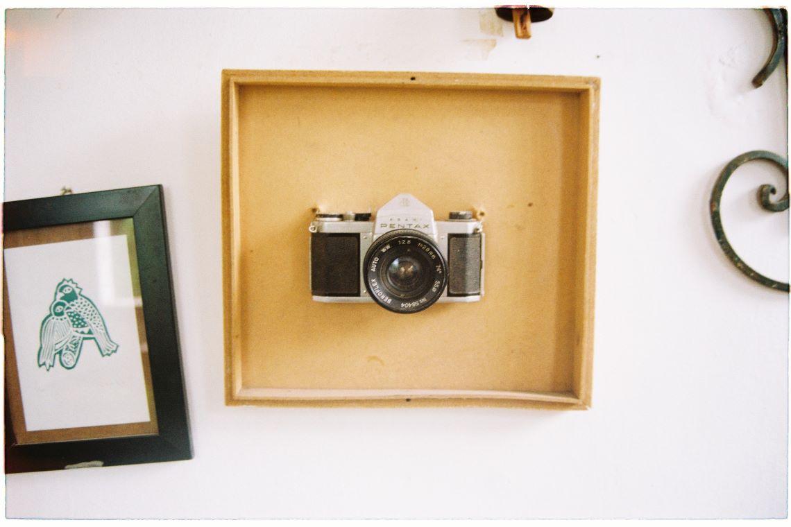 Appareil photo dans un cadre