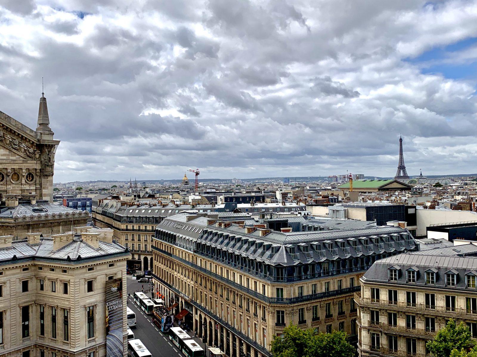 Vue des Galeries Lafayette.