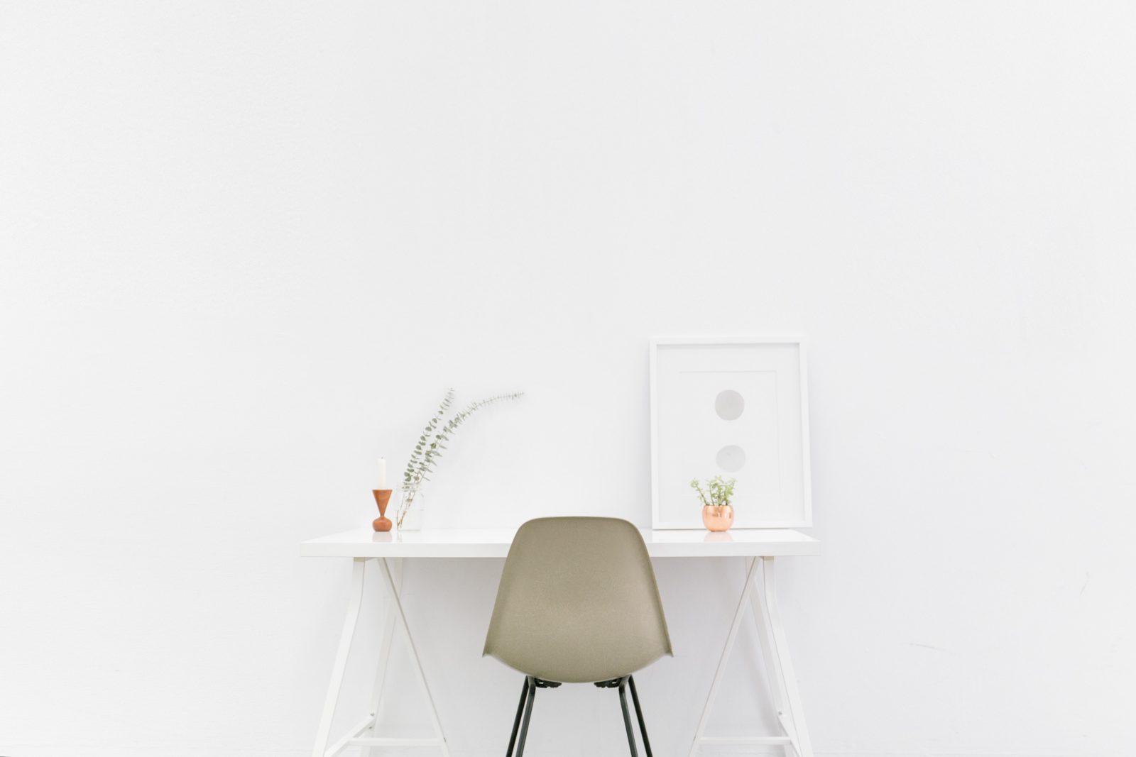 Décoration minimaliste.