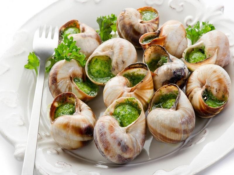 Les fameux escargots de Bourgogne originaire de Dijon.