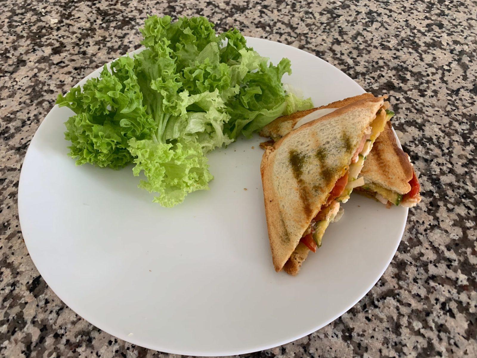 Le croque-monsieur végétarien