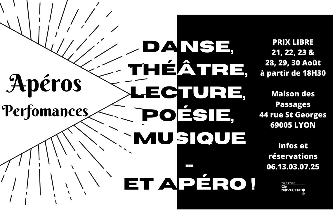 Bon plan culture et théâtre :Les Apéros-Performances