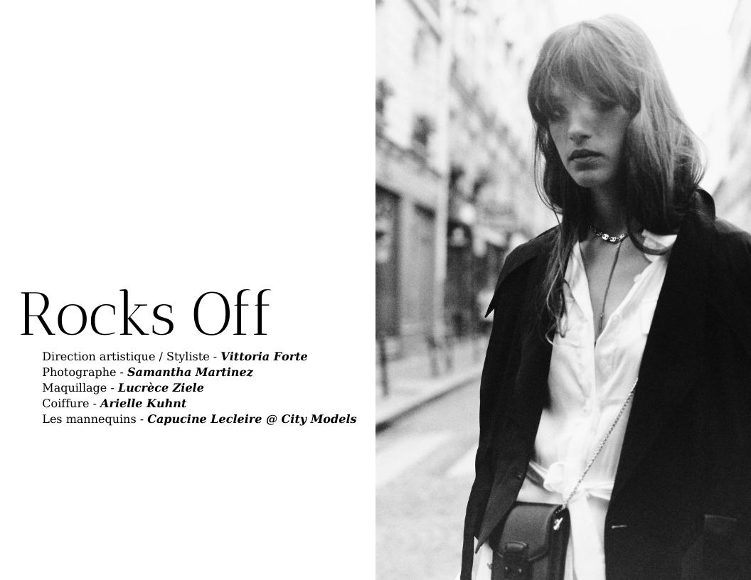Éditorial ROCKS OFF par Vittoria Forte et Samantha Martinez