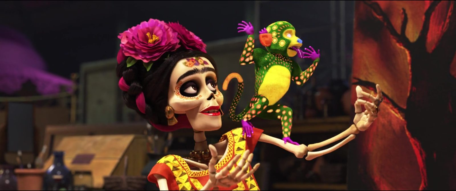 Frida Kahlo dans Coco de Disney, 2017.