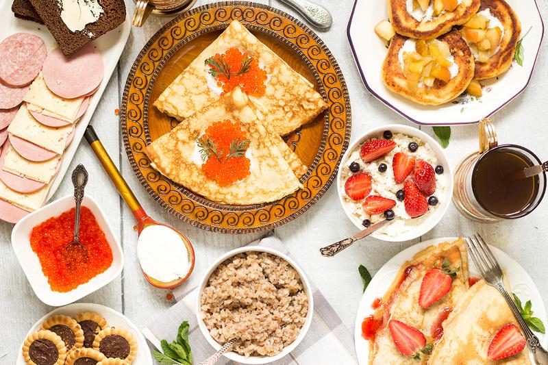 Petit déjeuner russe (Cooking the globe).