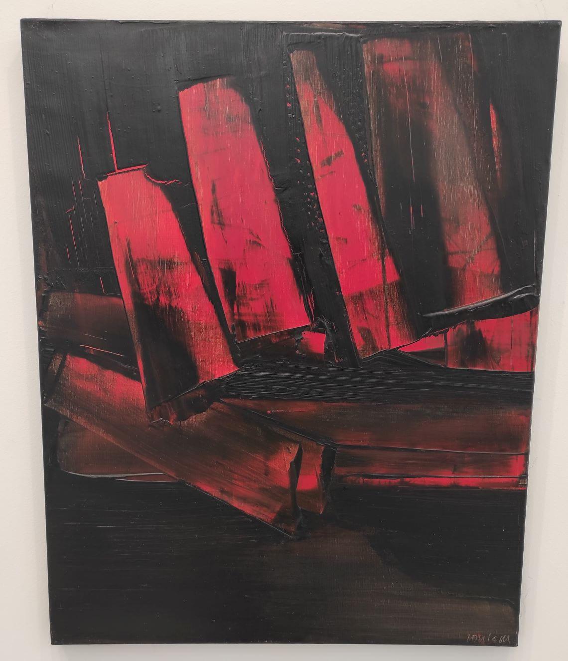 Pierre Soulages, Montpellier et le Musée Fabre - raclage rouge