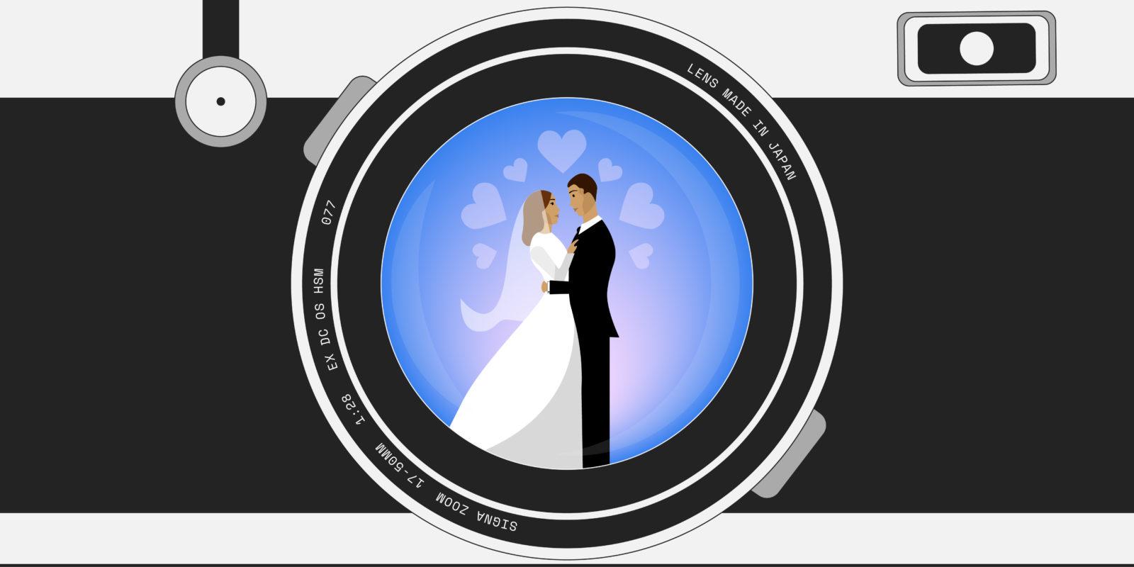 En moyenne, les Français prévoient 11 % du budget total de leur mariage pour le photographe