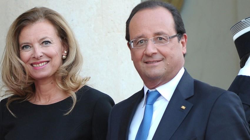 Valérie Trierweiler et François Hollande.