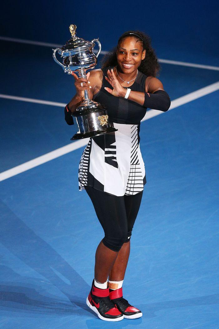 Victoire de Serena Williams lors de l'Open d'Australie de tennis.