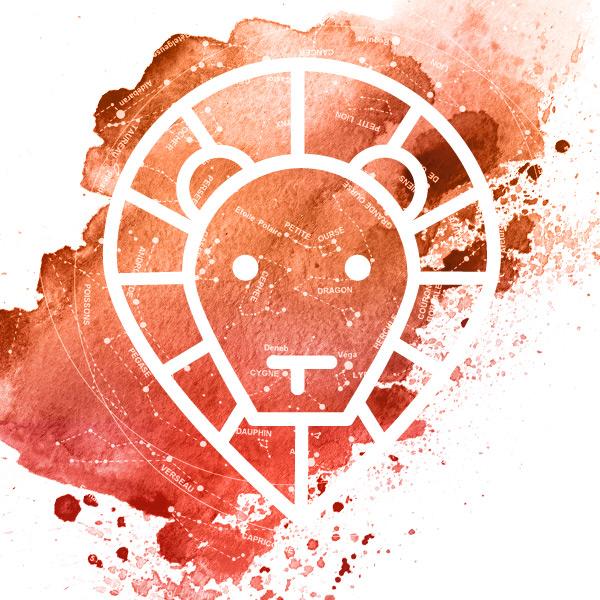 Symbole du signe du lion.