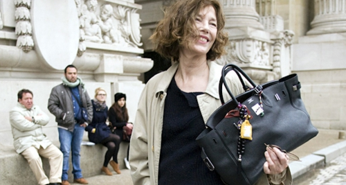 Jane Birkin portant le Birkin Bag