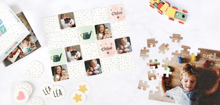 puzzle et jeu de mémoire photoweb