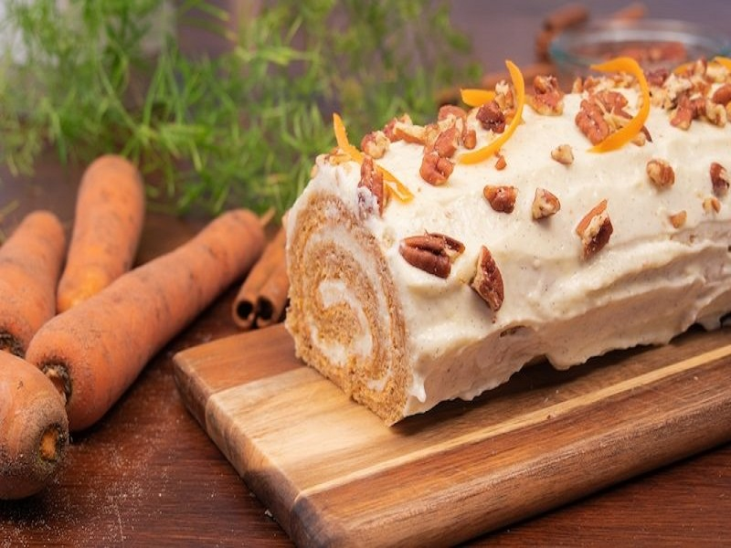 Bûche au carrot cake.