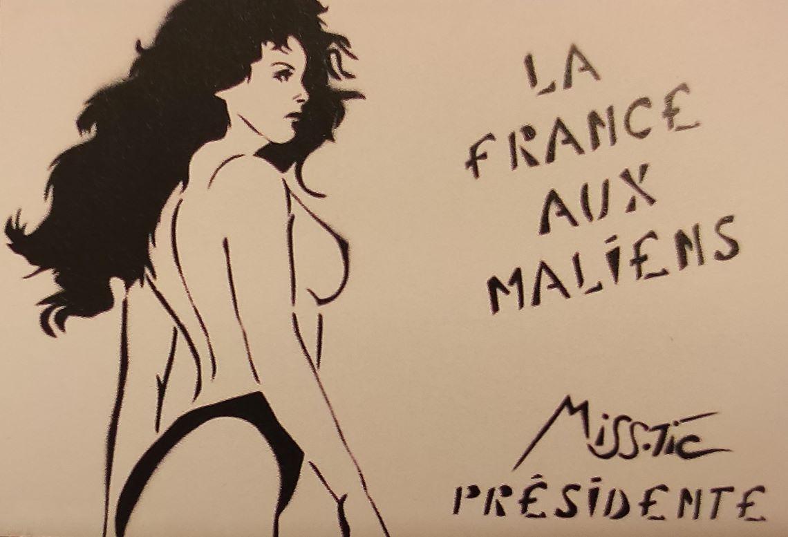 La France aux Maliens par Miss Tic.
