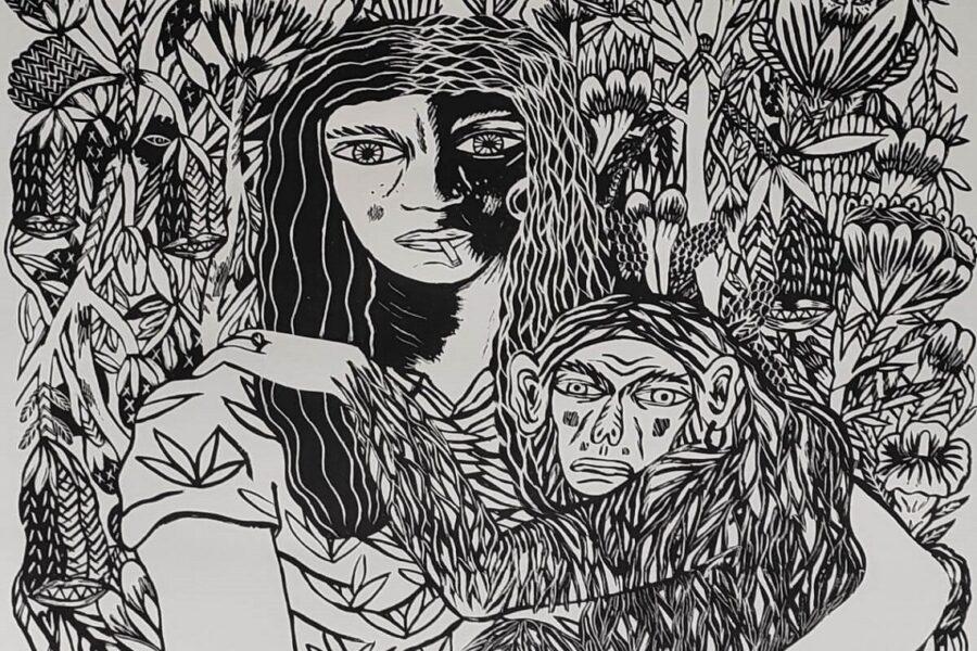 Katja, artiste urbaine expressionniste et chamanique