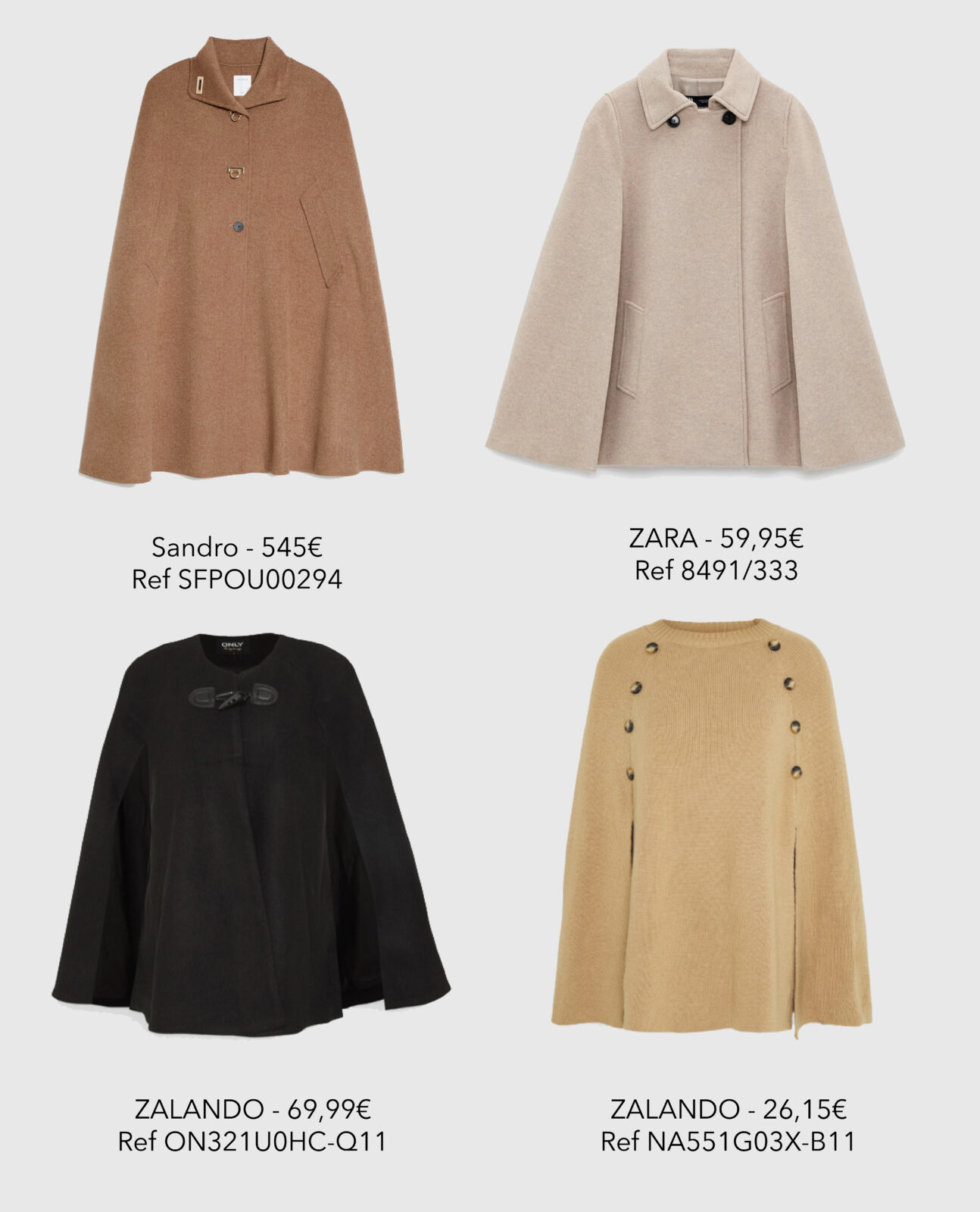 Les capes - Get the Look