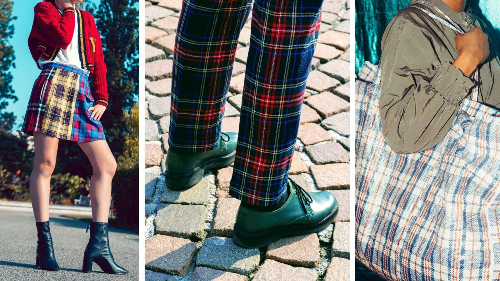 Le tartan revisité - jupe - pantalon - sac - Ô Magazine