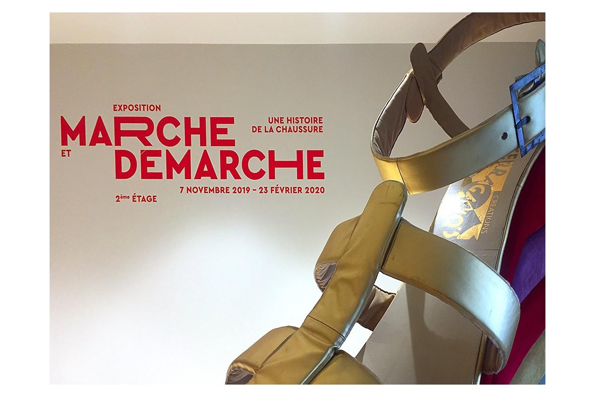 Expo Marche et Démarche au MAD de Paris : affiche
