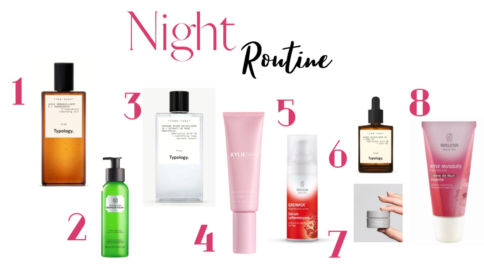 Night Routine printemps : routine de soin du visage pour le soir