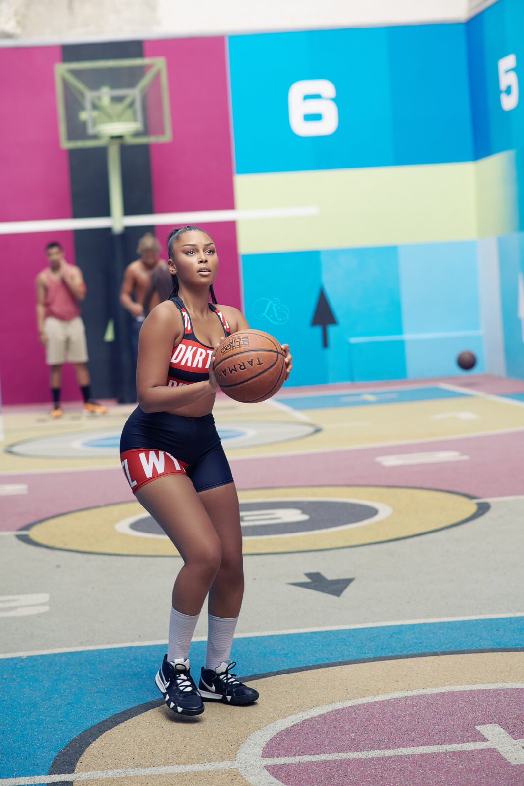 Une basketteuse talentueuse.