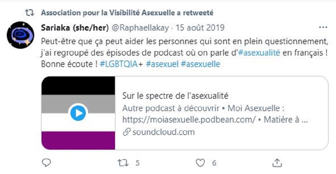 Capture d'écran du compte Twitter de l'association AVA.