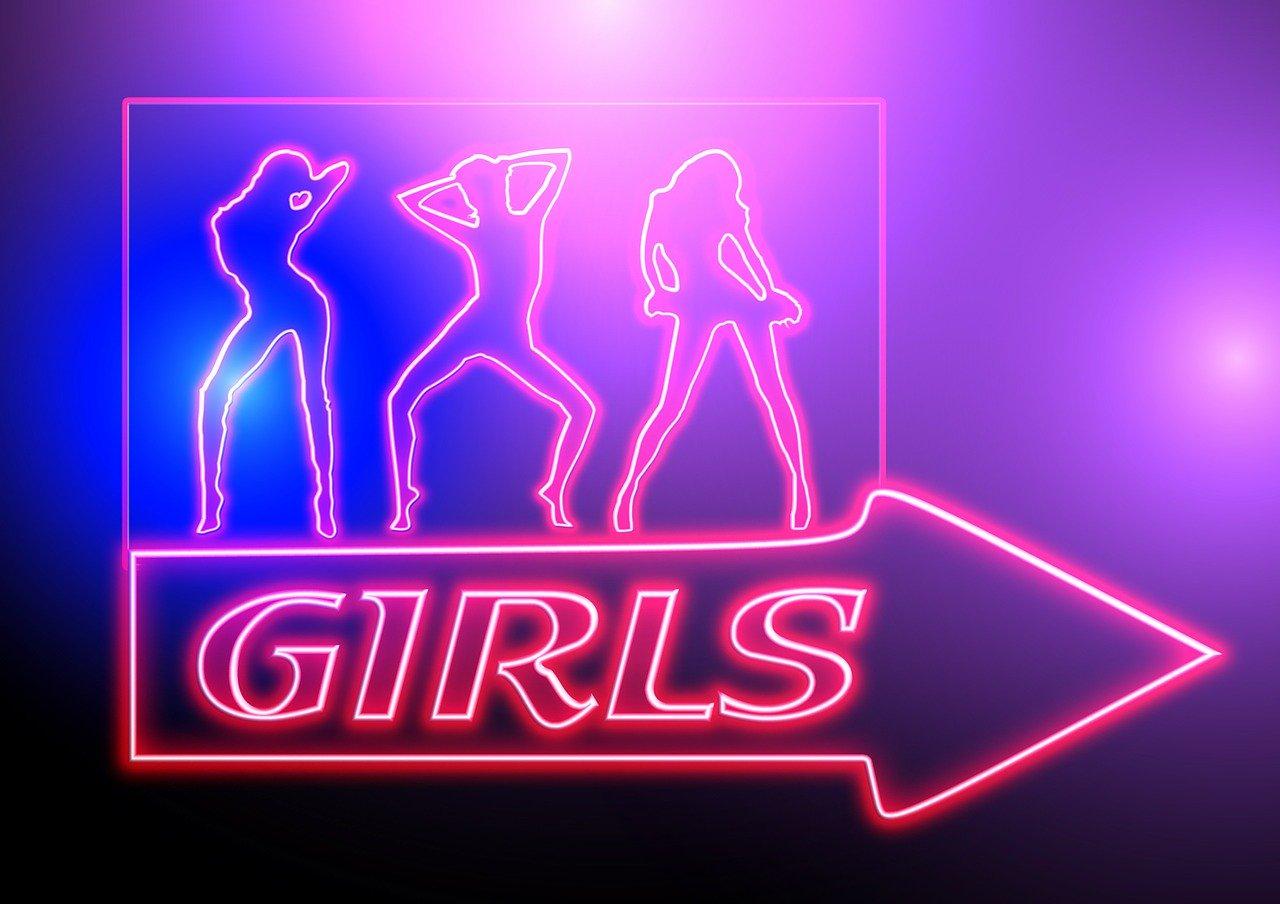 Enseigne lumineuse girls