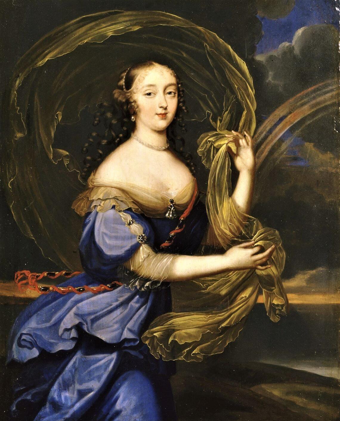 Inconnue en Iris (peut-être Françoise-Athénaïs de Rochechouart, marquise de Montespan), Anonyme dans le style de Louis Ferdinand Elle le jeune (1648-1717), (c) Wikimedia Commons.