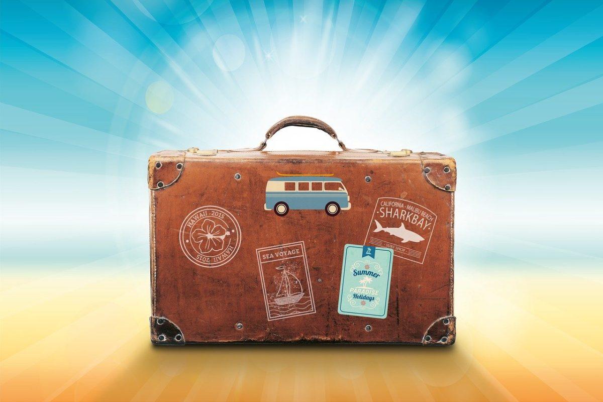 Vacances d'été - Une valise pour voyager