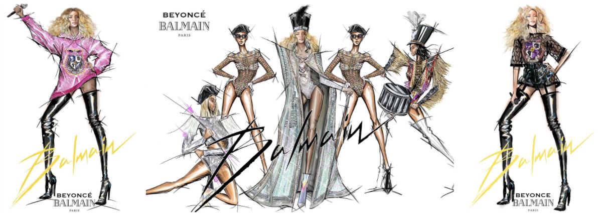 Balmain x Beyonce Coachella