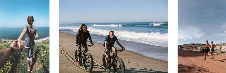 Les classiques : running, randonnée, vélo