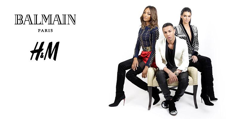 Publicité pour la collection H&M x Balmain ©H&M