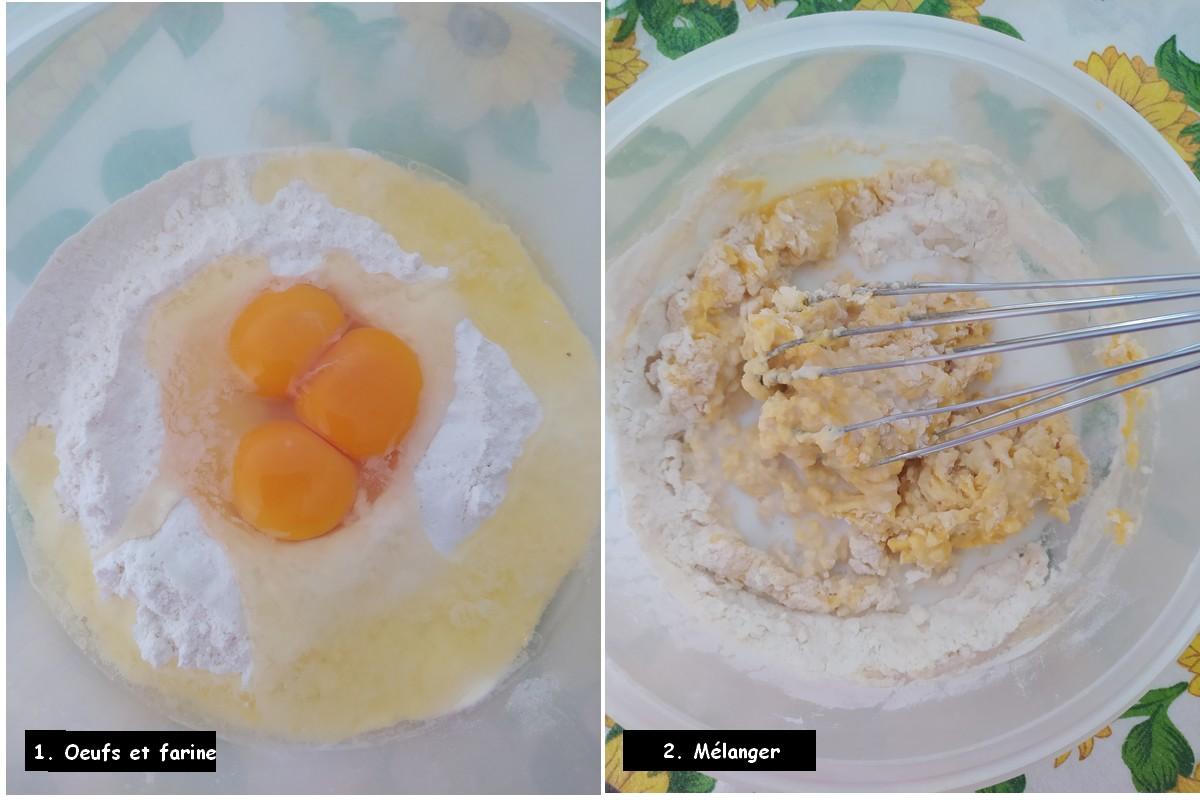 crespelles vide-frigidaire - oeufs et farine
