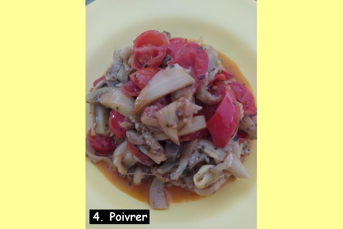 Spaghettis d'aubergines - recette aubergines